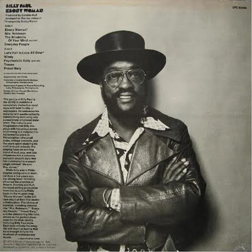 """1973 : Billy Paul : Album """" Ebony Woman """" Philadelphia International Records KZ 32118 [ US ]"""