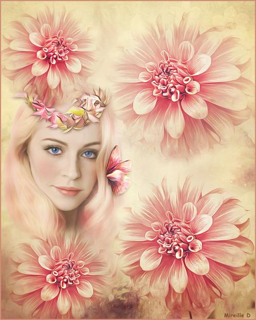 Parmi les Fleurs.... (Photomontage)