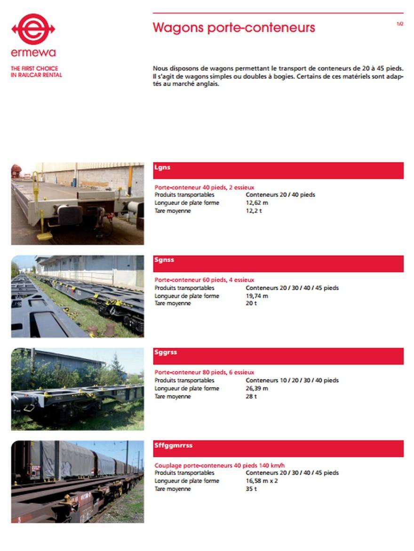 Wagon Porte-container USA
