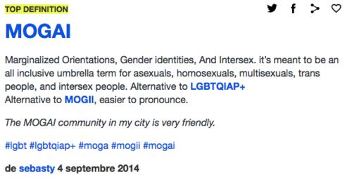A propos de MOGAI et autres acronymes (mise à jour)