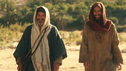 Judas et Jésus souriant