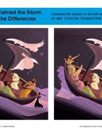 Jesus Calmed the Storm Spot the Differences Activity for Kids