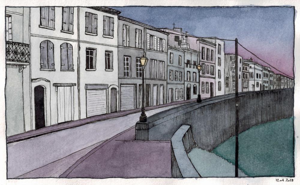 Aquarelle   Angoulême et mon Futur