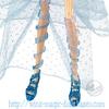 gros plan chaussures bloom blue harmonix