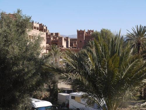 La casbah Ali depuis la terrasse su restau du camping