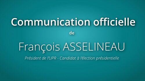 - Communiqué officiel de F. Asselineau concernant l'annulation du débat du 20 avril 2017