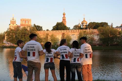 couché de soleil sur Moscou