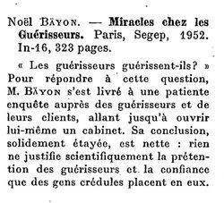 Noël Bäyon - Miracles chez les guérisseurs (1953)