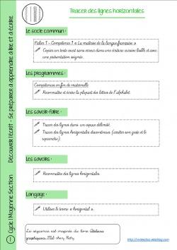 Lignes verticales et horizontales ms
