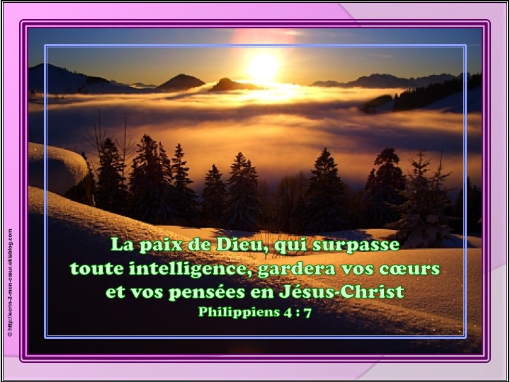 La paix de Dieu - Philippiens 4 : 7