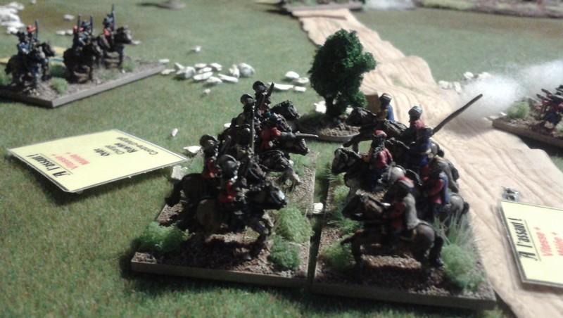 comabt de cavalerie à la nuit tombée...