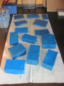 peinture bleue b