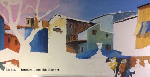 Apprentissage de la peinture au couteau