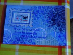Mail art bleu, merci Granouche