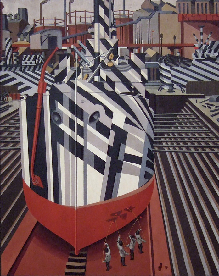 dazzle-ships_in_drydock_at_liverpool
