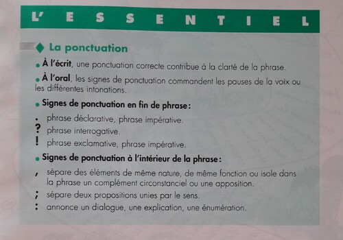 C / La ponctuation
