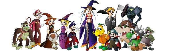 des personnages de jeux videos se son reunis aujourd'hui pour feter halloween avec nous!!