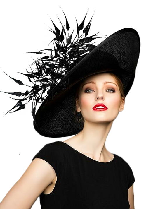 Femme chapeautée