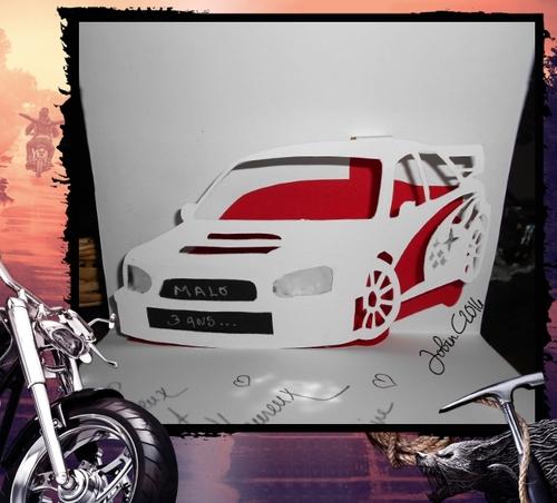 Carte voiture Kirigami