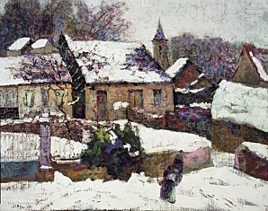 762px-Brooklyn Museum - Wet Snow Auvergne - Victor Charreto