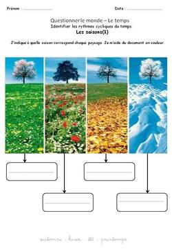 Questionner le monde : les saisons