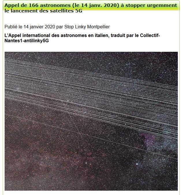 166 astronomes lancent une alerte contre le déploiement massif des satellites de télécommunication