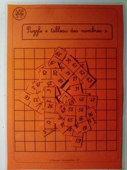Structurer la suite numérique et construire le nombre : puzzles en autonomie