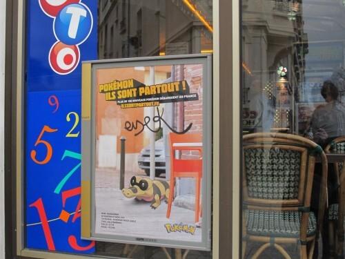 insert affiche Pokémon café
