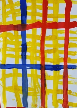 Graphisme MS: quadrillage avec Mondrian, NewYork