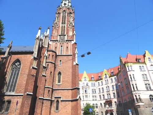Riga: autour de l'église zainte Zerrude (photos)