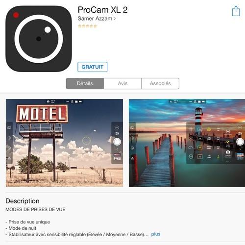 [appli] ProCam XL 2
