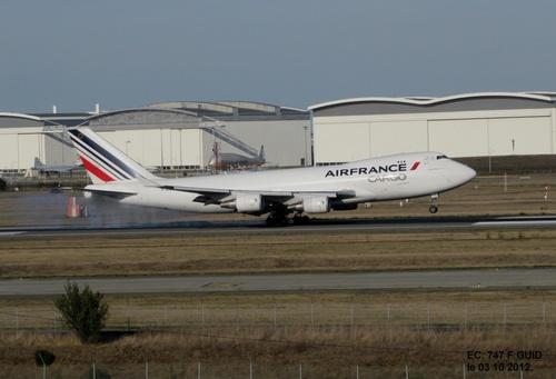 Boeing 747 Cargo F GUID Atterrissage à BLAGNAC 31 le 29/08,le 12 et le 19/09/2012.