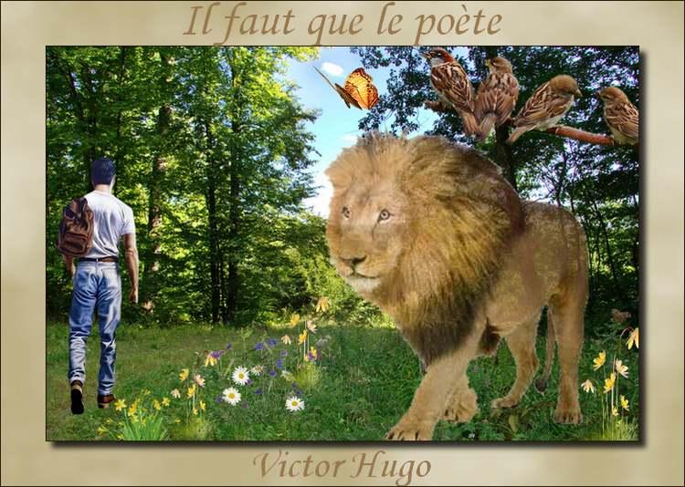 """"""" Il faut que le poète """"   poème de Victor Hugo"""