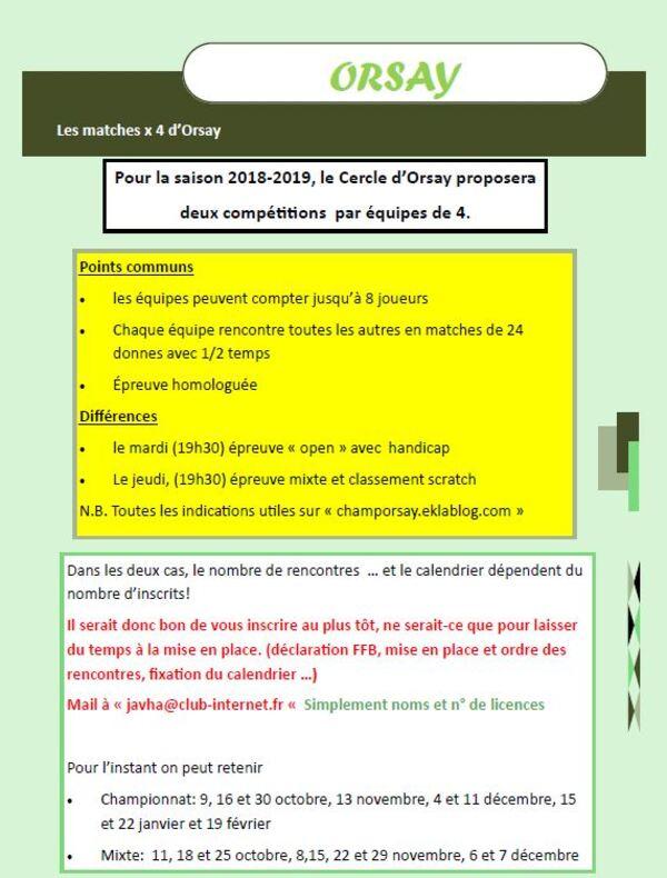 Les Par 4 d'Orsay