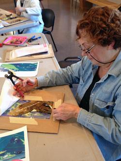 Atelier oeuvre collective en mosaïque