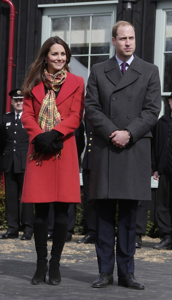 Charles, William, et Kate à Ayrshire
