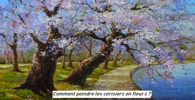 Dessin et peinture - vidéo 2926 : Comment peindre les cerisiers en fleurs ? - huile ou acrylique.