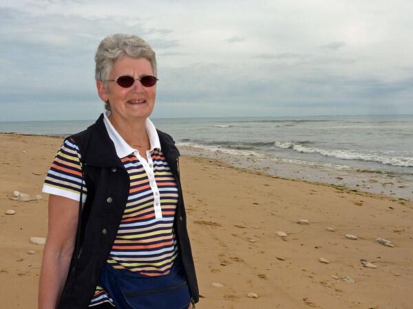 Sainte-Marie - Evelyne sur la plage