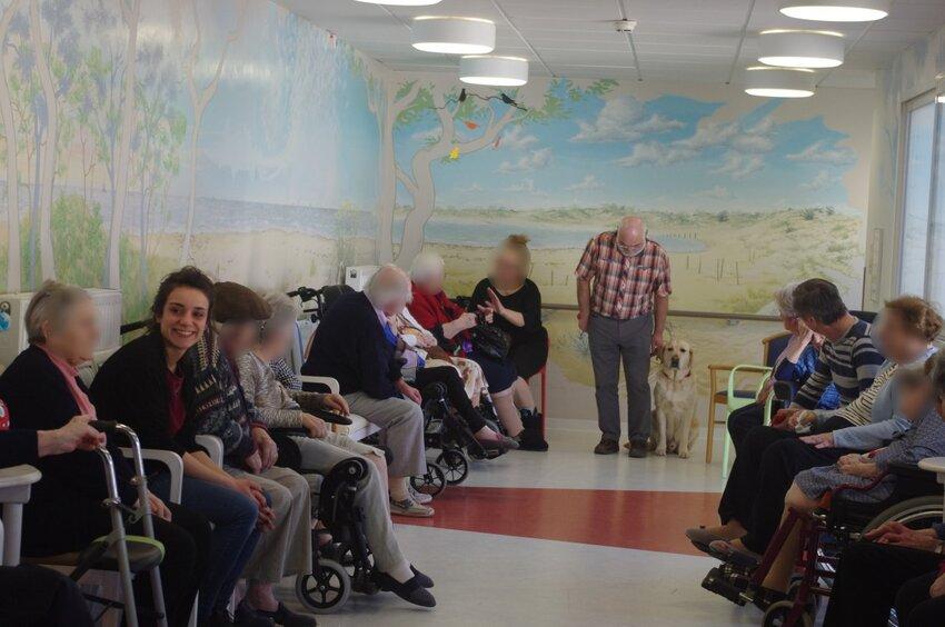 visite à la maison de retraite de St Pierre d'Oléron le 21 mars 2016