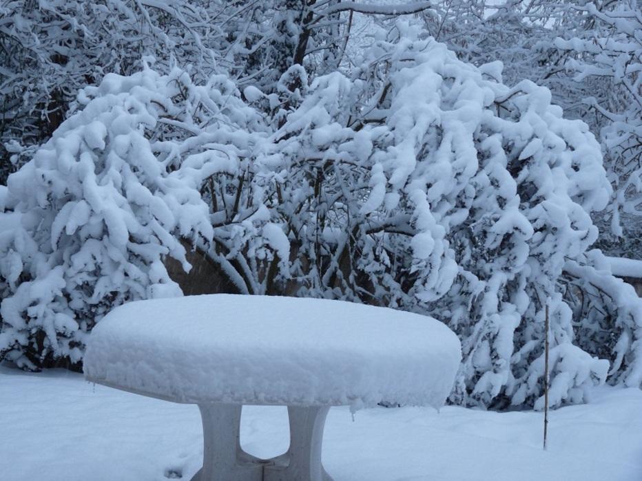 Ce matin, 16 cm de neige