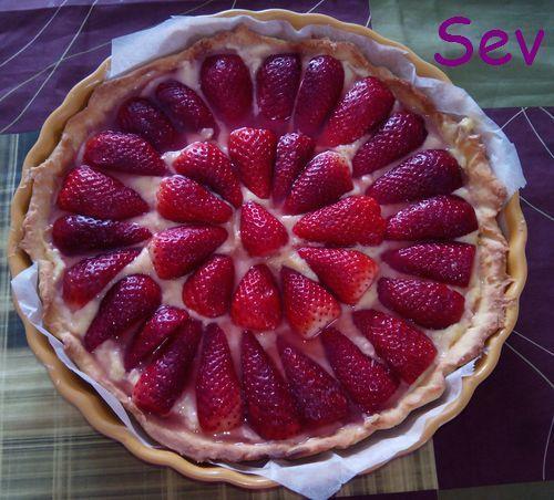 Une bonne tarte aux fraises