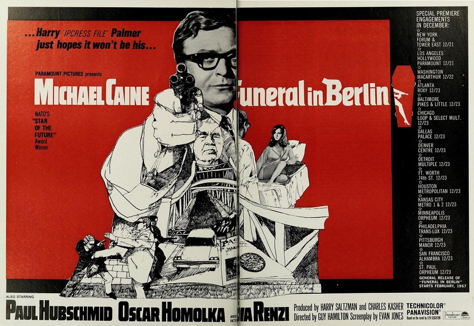 FUNERAL IN BERLIN BOX OFFICE USA 1967