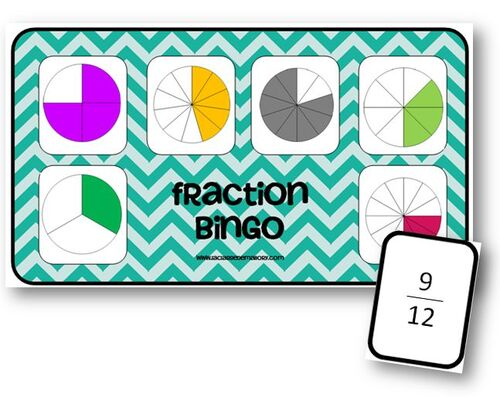 Fraction Bingo - jeu sur les fractions