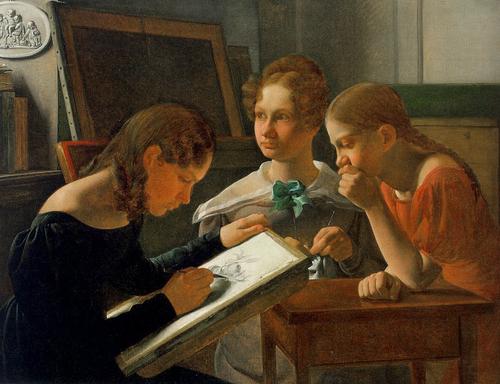 08 - Trois soeurs en peinture