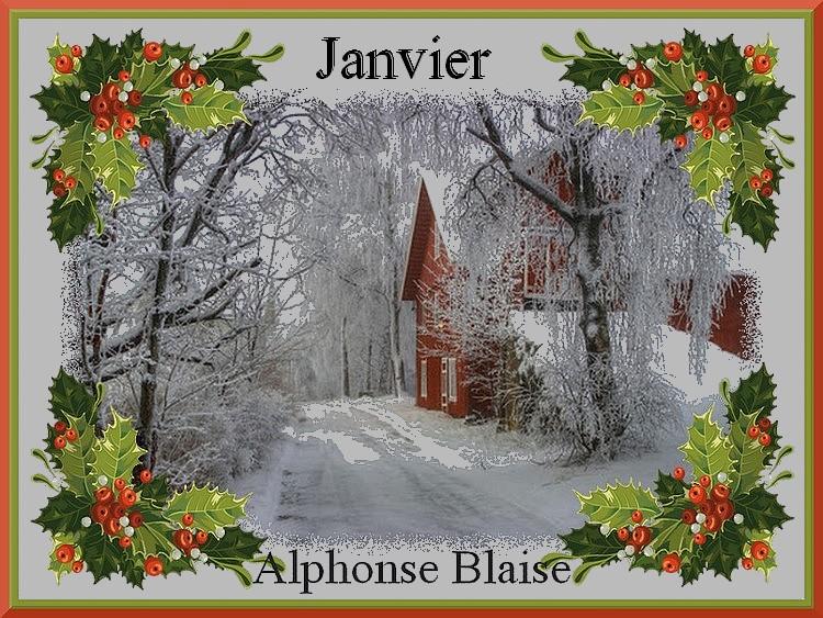 """"""" Janvier """" poème d'Alphonse Blaise"""
