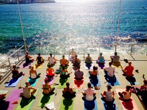 dance ballet beach class yoga boat pool