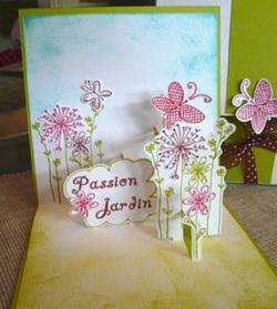 Carte 3D fleurs printanières