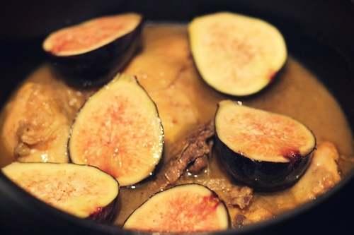 Recette de Cuisine :Tajine de poulet aux figues fraiches