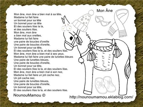 Comptine illustrée : mon âne