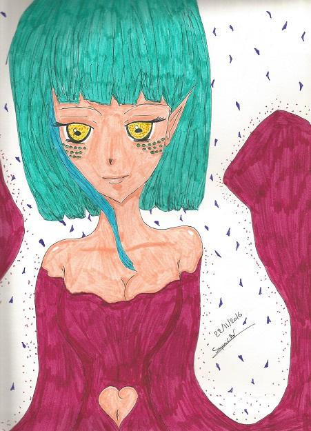 Crayon de couleur et feutre